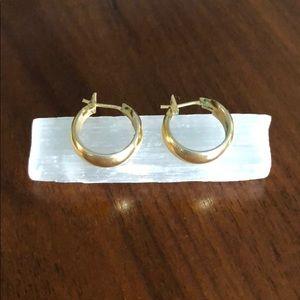 Gold huggie earrings Catbird Mejuri vintage